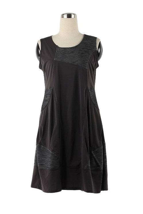 Grey Sleeveless Dress/Sarafan With Pockets