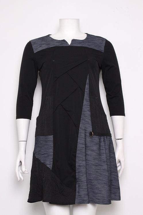 A-Line Dress With 3/4 Sleeve