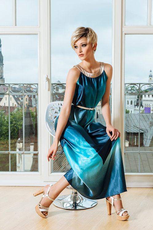 Stunning Turquoise Dress With Belt