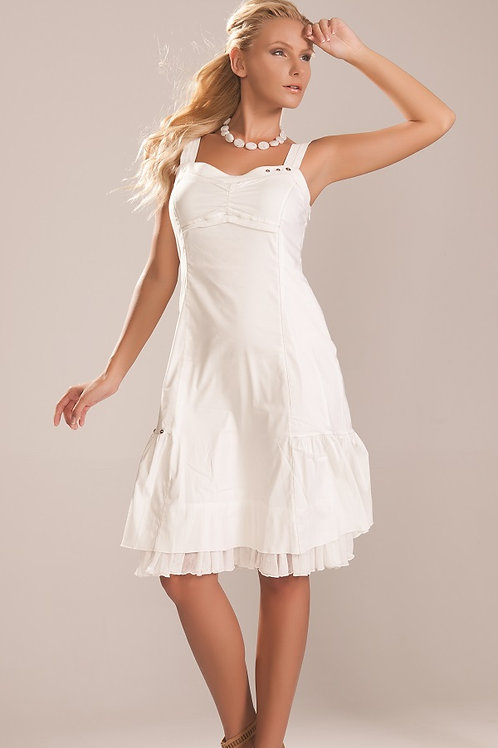Off-White Lined Dress By Dolcezza