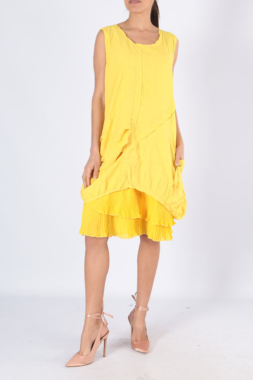 Sleeveless Dress With Detachable Lining