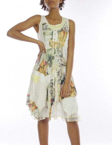 Sleeveless Crinkled A-Line Dress