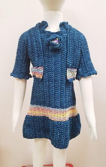 Dark Teal Dress and Short Jacket Set