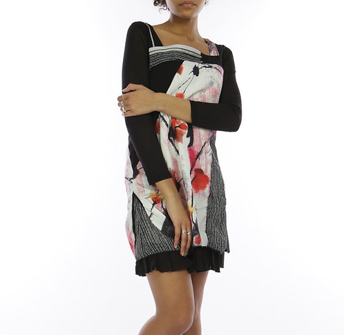 Long Sleeve Dress With Flowers
