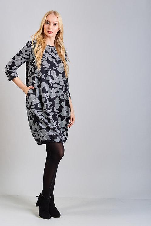 Grey/Black Dress With Pockets