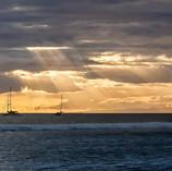 Lahaina Harbor Sun Rays