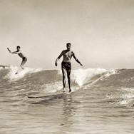 Vintage Surfers at Waikiki