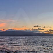 Sunset Over Moloka'i