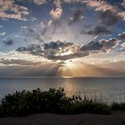 Sunset Drama Over Moloka'i