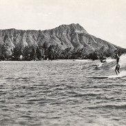 Classic Diamond Head and Surfers