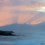 Sun Rays Above West Maui Mountains