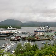 North to Alaska by ship.