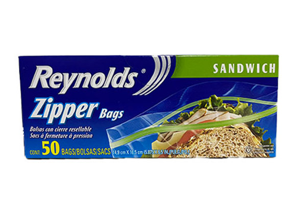 Zipper Bolsas Tamano Sandwich Reynolds