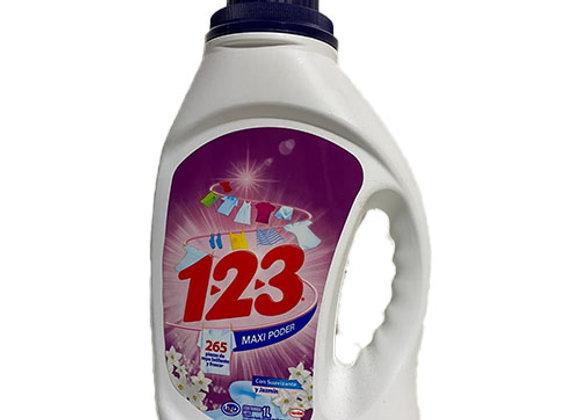 Detergente 123 Suavizante y Jazmin 1000ml
