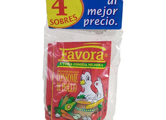 Consome de Pollo Favora 4 sobres