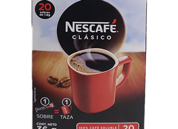 Cafe Instantaneo en Sobres Nescafe - 20 sobres de 1.8gr