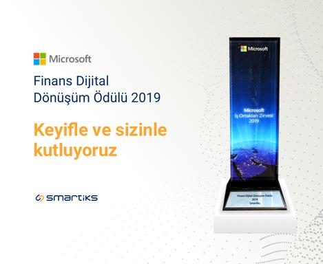 2019 Yılın Finansal Dönüşüm İş Ortağı Ödülü Smartiks'in!