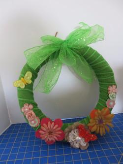 Green spring wreath