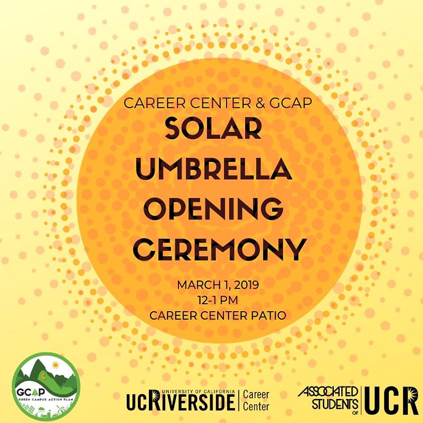 GCAP x Career Center Solar Umbrella Ceremony