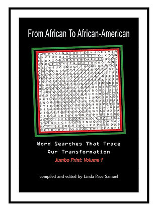 Part I:  (Pocket Size) From African to African American: Word Searches