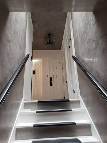 Interior Stairwell Venetian Plastering Gordon Plastering