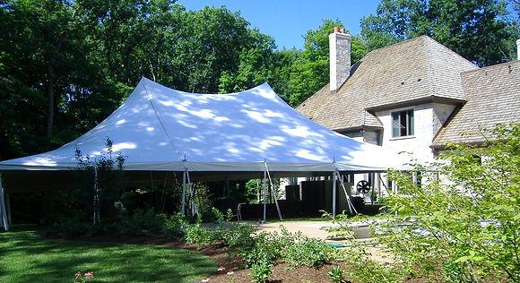 60x40 White Pole Tent
