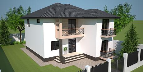 Proiect Casa Parter plus Etaj, Suprafață 215 mp