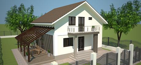 Proiect Casa Parter plus Mansardă, Suprafață 147 mp