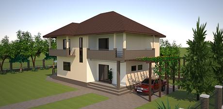 Proiect Casa Parter și Etaj, Suprafață 208 mp