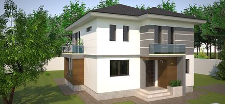 Proiect Casa Parter plus Etaj, Suprafață 161 mp