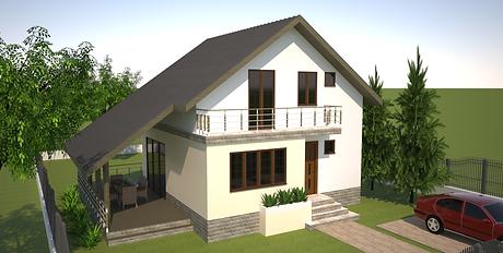 Proiect Casa Parter plus Mansardă, Suprafaţă 121mp