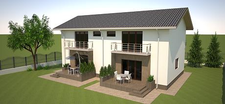 Proiect Duplex Parter și Etaj, Suprafață 260 mp