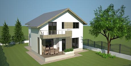 Proiect Casa Parter plus Mansardă, Suprafață 161 mp