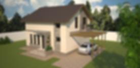 Proiect Casa Parter plus Mansardă, Suprafață 216 mp