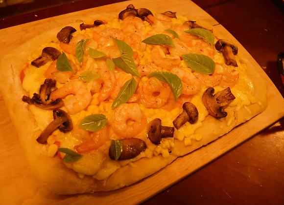 Pizza de Camarones de la Casa