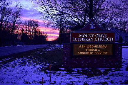 Outside Sign with sunset, locport, new york