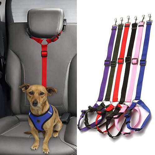 Headrest Dog Car Seat Belt