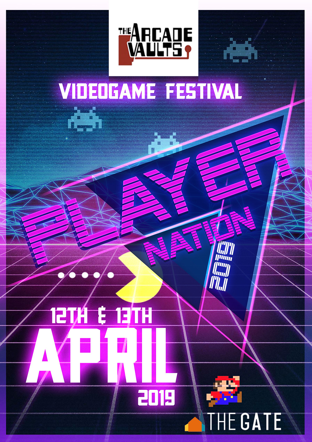 Graphic Design in 2019 for Videogame Festival in Cardiff