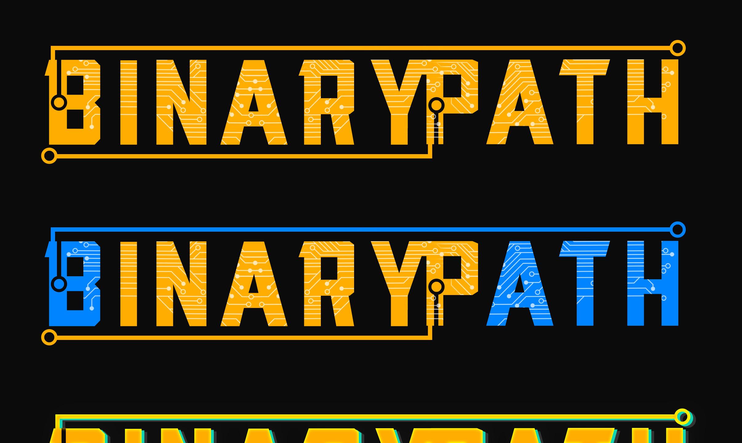 Binary Path game logo -Gcreate