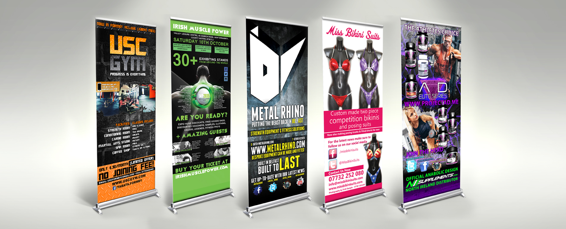 Graphic design Roll up banners