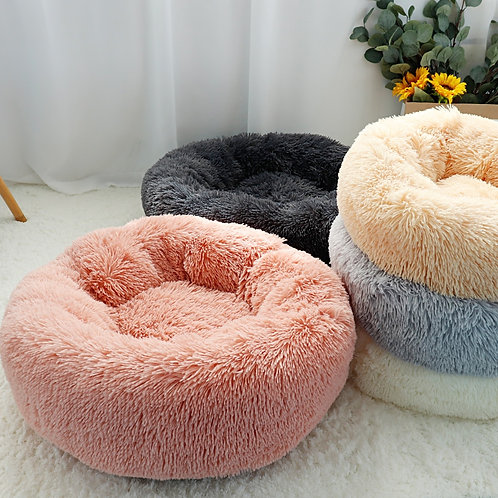 Fluffy Calming Cat and Dog Bed