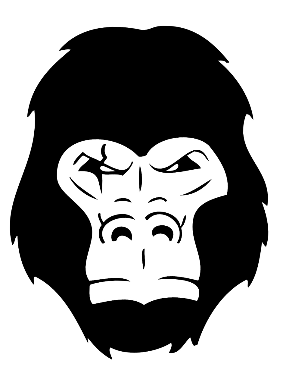 Gorilla head vector and styled