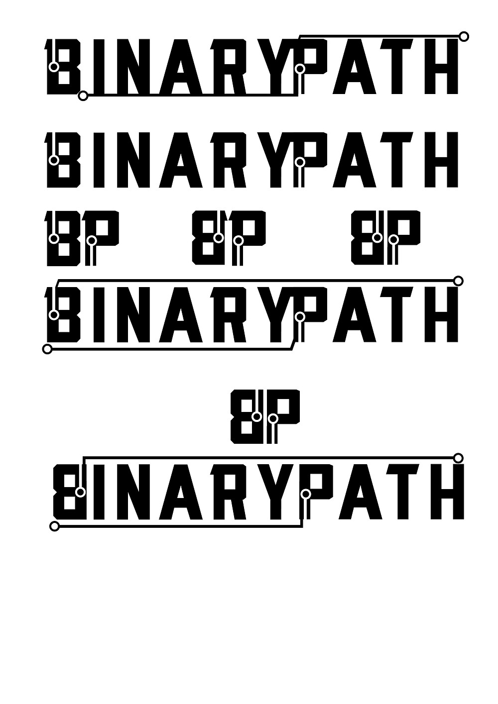 Binary Path Gcreate local graphics design logo
