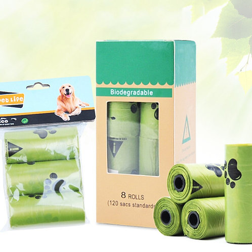 8 Rolls/Box- Dog Poop compostable bags