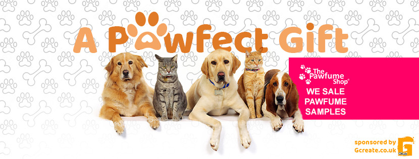 Facebook banner for A Pawfect Gift- Seller of The Pawfume Shop Samples