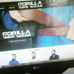 Gorilla WarWear Webdesign
