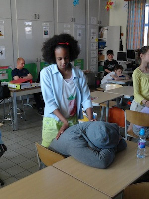 Massage in de klas