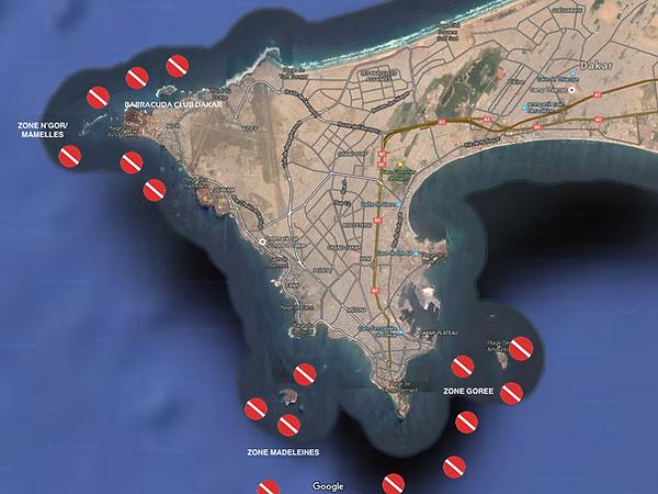 Les Sites des Plongee à Dakar