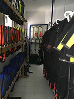 Equipement du club de plongee Barracuda Club Dakar