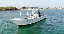 Bateau du Club de Plongee Barracuda Club Dakar
